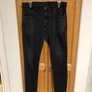 Levi's Jeans Size 34 x 30 black faded 511